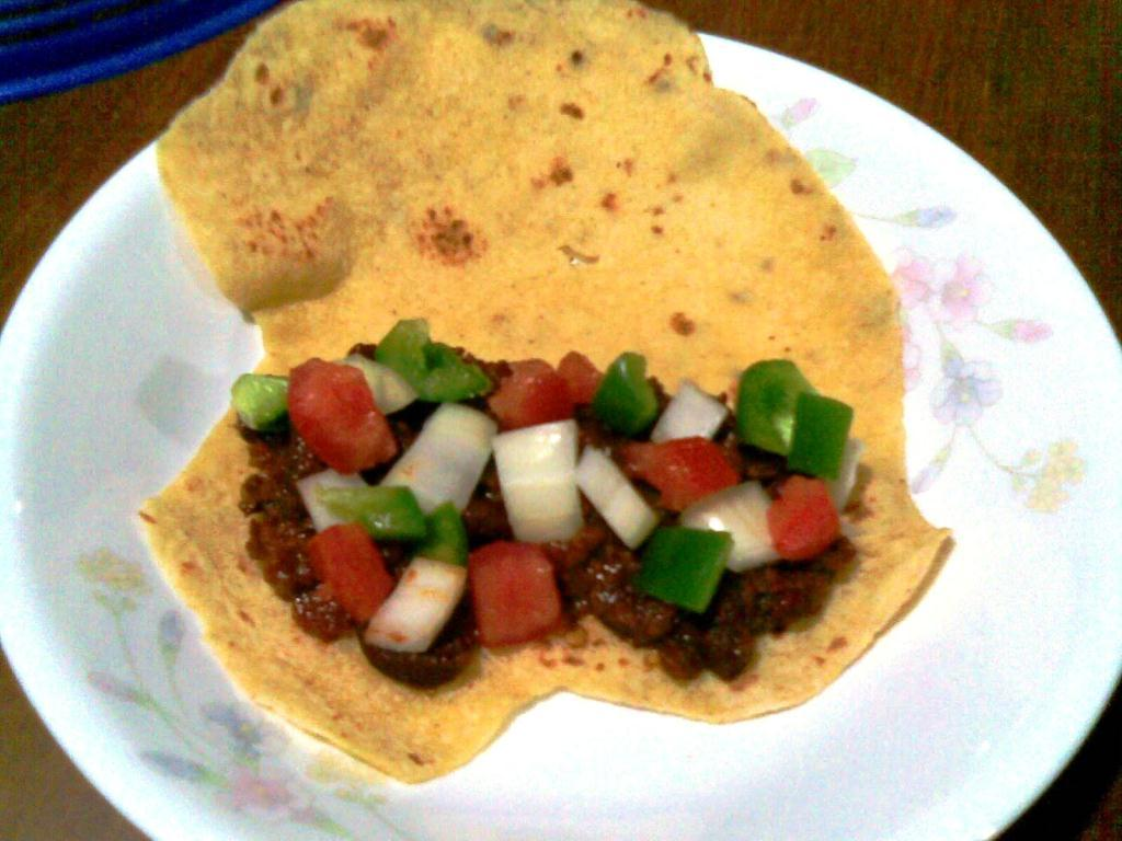 Not to forget. The tortillas can also turn to be tacos!The picture shows an open taco.