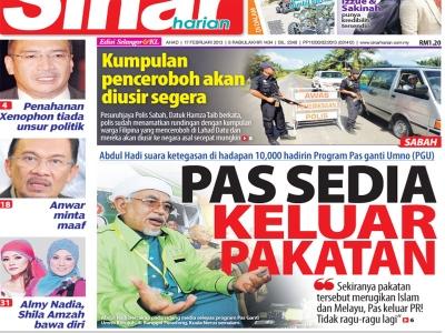 Haji Hadi PAS quit PR