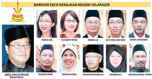 Chief Minister and the excos of Selangor