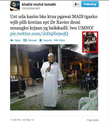 Khalid Ismath sokong Kristian