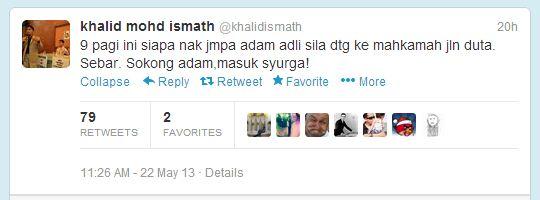 Khalid Ismath- Sokong Adam Masuk Syurga