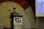 Dr. Yusri Mohamad, president of PEMBELA giving the opening speech during the  Wacana Agenda Kristian Se Dunia: Rujukan Khas Malaysia at the Dewan Muktamar, Pusat Islam.