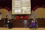 Kalthm Omar sharing her story during the  Wacana Agenda Kristian Se Dunia: Rujukan Khas Malaysia at the Dewan Muktamar, Pusat Islam.