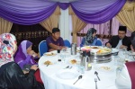 Second from left is Kalthum Omar. First from right is Dr. Yusri Mohamad. Lunch in the VIP's room during the Wacana Agenda Kristian Se Dunia: Rujukan Khas Malaysia at the Dewan Muktamar, Pusat Islam.