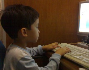 This is Ahmad using the Microsoft Power Point at 5 years old.
