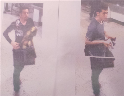 CCTV photo of the two MH370 passengers using stolen Italian passport (left) and stolen Austrian passport (right).