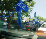 BN supporters during the polling day of the N.25 Kajang by-election.
