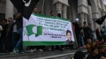 PAS supporters with Nik Aziz's stance on the Kalimah 'Allah' issue at Palace of Justice on 5/3/2014. Photo by Ahmad Ali Karim.