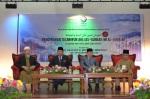 From left: Ustaz Ismail Mina (president of MUAFAKAT), Tan Sri Muhyiddin Yassin (Deputy Prime Minister of Malaysia), Tan Sri Abu Zahar Ujang (President of Dewan Negara), Hj. Amin Hashim (Deputy President of MUAFAKAT).