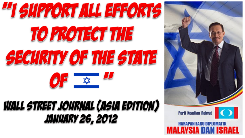 Image result for Anwar Ibrahim dan Israel