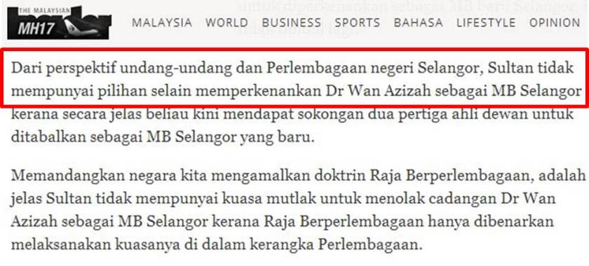 Bolehkah DUN Selangor dibubar? – Mohamed Hanipa