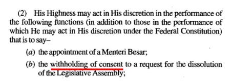 Selangor Constitution Article 55(2)