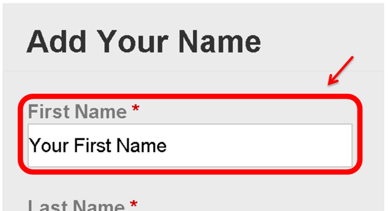 Petition Manual-First Name