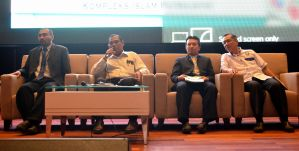 The speakers of the first session of the Wacana Liberalisme: Agenda Jahat Illuminati, Kompleks Islam Putrajaya, 17th January 2017.