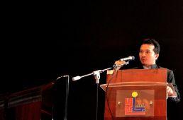 Ustaz Muhammad Rashidi from Universiti Sultan Zainal Abidin (UNISZA) presenting his paper during the Wacana Liberalisme: Agenda Jahat Illuminati, Kompleks Islam Putrajaya, 17th January 2017.