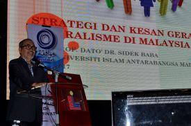 Prof. Datuk Dr. Sidek Baba from Universiti Islam Antarabangsa Malaysia (UIAM) presenting his paper during the Wacana Liberalisme: Agenda Jahat Illuminati, Kompleks Islam Putrajaya, 17th January 2017.