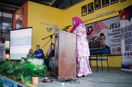Pengacara majlis Jelajah Kemerdekaan MPJ, SMK Tan Sri Mohamed Rahmat, Johor Bahru, Johor.