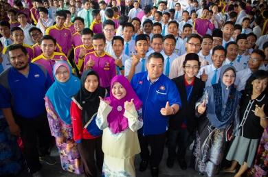 Gambar sekitar program Jelajah Kemerdekaan MPJ, SMK Tan Sri Mohamed Rahmat, Johor Bahru, Johor.