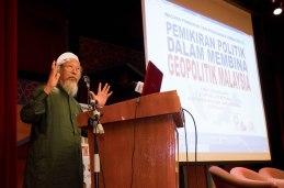 UMMAH's chairman, Ustaz Ismail Mina Ahmad, delivering the opening speech during the Wacana Pemikiran Politik Dalam Membina Geopolitik Malaysia which was held at Masjid Putra, Putrajaya on 6th March 2018.
